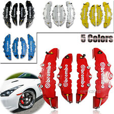 4x 3D Brembo Style Race Disc Brake Caliper Cover Shell Housing Car Front Rear