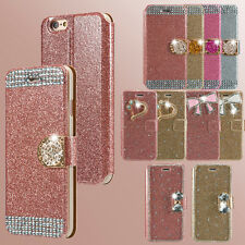 Bling Glitter Diamond Flip Wallet PU Leather Case Cover For Apple iPhone 5 5s 6s