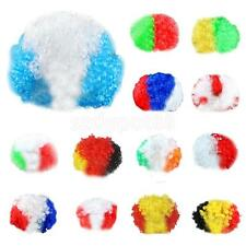 Party Disco Afro Clown Hair Football Fan Adult Child Halloween Masquerade Wig