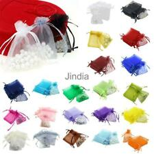 100 Luxury Organza Gift Bags Jewellery Pouches X'mas Wedding Party Candy Favours