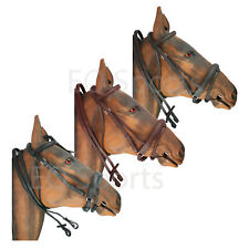 FAST P&P !! High Quality Imported Leather Comfort Bridle Black & Brown 4 Sizes!!