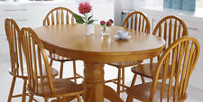 Kentucky Extending Oak Dining Table and 6 Chairs | Oak Dining Table & Chairs |