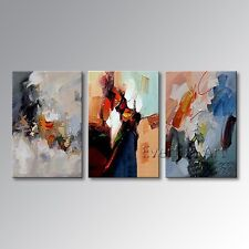 HANDMADE HUGE MODERN ABSTRACT HEAVY WALL ART OIL PAINTING ON CANVAS (+ framed)
