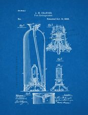 Fire Extinguisher Patent Print Blueprint