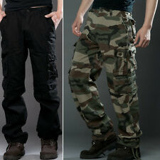 New Fashion Mens Casual Military Army Camo Long Pants Cargo Combat Work Trousers