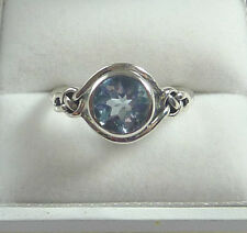 2.41ct Genuine Blue Topaz 925 Sterling Silver Celtic Knot Solitaire Ring