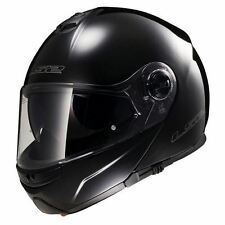 LS2 FF325 Strobe Flip Front Motorcycle Helmet Modular Bike Crash Lid Gloss Black