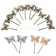 10 Vintage Handemade Hair Bobby Pins/Accessories Retro Grips Slides Butterfly