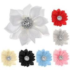 10pcs Satin Ribbon Flower Craft DIY Accessories Wedding Appliques Decoration