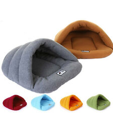Warm Soft Cozy Cave Half Covered Pet Bed House Mat Sleeping Bag Puppy Dog Cat