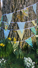 Fabric Bunting Wedding 40ft Vintage Shabby Handmade flower chic Garden 30metres+