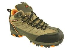MENS LIGHTWEIGHT HIKING WALKING TRAIL ANKLE BOOTS LACE UP KHAKI SIZE 6-12 NEW!
