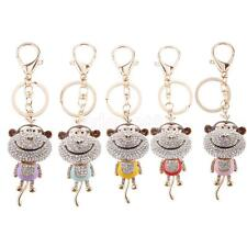 Lovely Rhinestone Key Chain Monkey/ Owl Key Charm Keyring Animal Key Fob