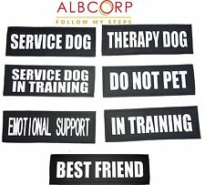 Reflective SERVICE DOG Patches,IN TRAINING,DO NOT PET, EMOTIONAL SUPPORT,THERAPY