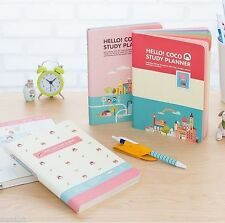 Hello Coco Study Planner Diary Journal Schedule Book Scrapbook Cute Notebook