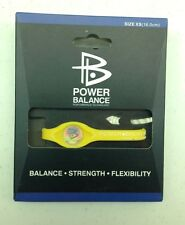Power Balance - YELLOW with WHITE Writing, Bracelet Band  - Wristband - NEW