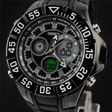 OHSEN Men's Digital Analog Alarm Date Day Stopwatch Sport Quartz Watch WH
