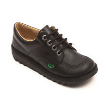 Kickers Kick Lo Core Black Youth Unisex Boys Girl School Shoes - Back to School