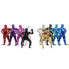 Hot Sale Shiny Full Bodysuit Zentai Costume Hooded Mask Skin Tight Suit Adult