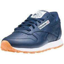 Reebok Cl Lthr Gum Womens Trainers Navy White New Shoes