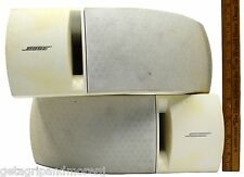 Pair BOSE SPEAKER SYSTEM Lot of 2 BOOKSHELF SPEAKERS Mo.161 WHITE (Age-Stained)