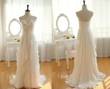 SH026 New Chiffon Ruffles Bridal Gown Simple Beach Wedding Dresses custom size