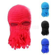 Hot Sale Unisex Tentacle Octopus Knit Beanie Hats Wind Ski Mask Cosplay Caps