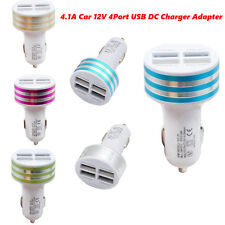 Mini Size 4.1A Car Charger Universal 12V 4 Port USB DC Adapter For iPhone 6s Hot