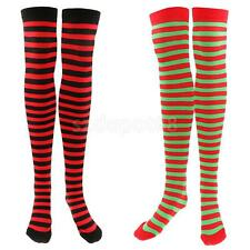 Over Knee Colored Stripe Christmas High Socks Long Stockings Hosiery for Women