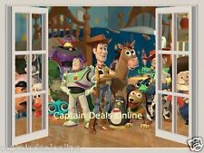 Toy Story 3D Window Wall Sticker Removable Decals Arts Kids Nursery Mural Decor