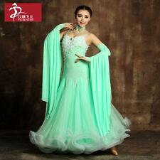 2016 New Ladies Modern Waltz Tango Latin Ballroom Competition Dance Dress Size #