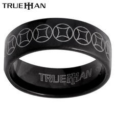 Black Beauty Bee Tungsten Band Trueman Carbide Mens Ring Size 8.25-13.25
