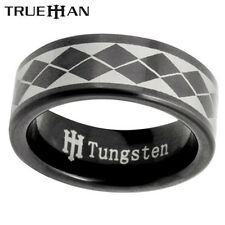 New Mens Black Bee Tungsten Band Trueman Carbide Mens Ring Size 8.25-13.25