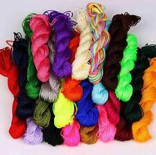 1mm Nylon Macrame Shamballa Braided Bracelet Rattail Cord Thread String Rope
