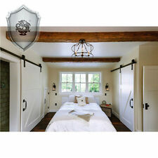 16FT Classic Sliding track Barn door hardware for Bedroom door Sliding door