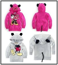 Toddlers Boys Girls Kids Minnie Mickey Hooded Tops T-Shirts Costume Outwear New