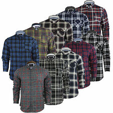 Mens Shirt Brave Soul Long Sleeved Soft Brushed Check Lumberjack Cotton S-XL New