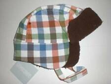 NWT GYMBOREE Fox Fella Plaid Ear Flap Chin Strap HAT Boys 12 18 mo