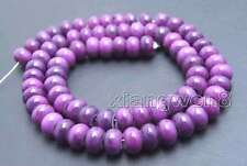 SALE 5*8mm Natural purple Rondelle sugilite Loose Beads strand 15'' -los686