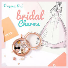 Origami Owl Just Married, Wedding Dress, Shoe & Cake. Wedding Ring & I Do Charms