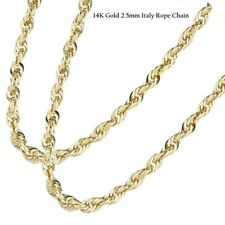 NW 14K Yellow Gold 2.5mm Italy Rope Chain Twist Link Necklace 716,18, 20, 22, 24