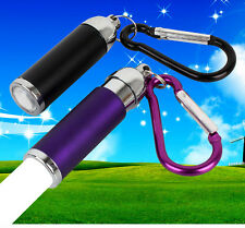 Portable Retracted Pocket Keychain Torch LED Light Lamp Flashlight Waterproof