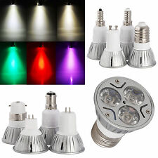 Ultra Bright 3W LED SpotLight Epistar Bulb B22 E27 GU10 MR16 GU5.3 B15 E14 Lamp