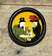 ABSINTHE Victorian Temptation Altered Ad Art Tie Tack or Ring or Brooch pin
