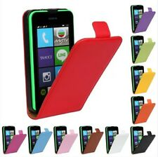 Genuine leather Flip Case Cover Protector Skin Open up For Nokia Lumia 530 N530
