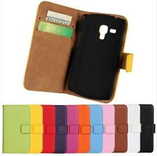 Genuine Leather Wallet Case Cover Protector For Samsung Galaxy Trend GT-S7562 S