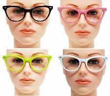 FASHION KITTY CAT EYE CLEAR LENS GLASSES SOPHISTICATED WOMEN RETRO STYLE