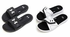Under Armour Men's UA HeatGear Ignite Slides Athletic Sandals Black White
