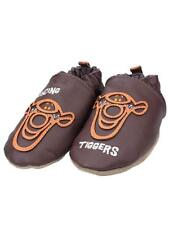 Robeez Bouncing Tigger Brown Leather Infant Baby Crib Shoes NEW Disney