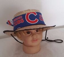 MBL Chicago Cubs Baby Straw Sun Hat